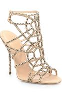 Sergio Rossi Crystal Suede Puzzle Sandals - Lyst