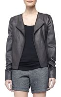 Vince Snake-embossed Leather Jacket - Lyst
