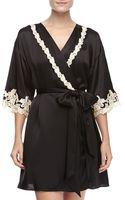 La Perla Maison Embroidered Short Robe - Lyst