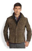 Brunello Cucinelli Suede Quilted Shirt Jacket - Lyst