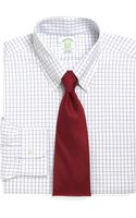 Brooks Brothers Supima Cotton Noniron Regular Fit Windowpane Buttondown Dress Shirt - Lyst