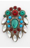 Topshop Vintage Stone Brooch - Lyst
