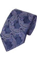 Canali Paisley Jacquard Tie - Lyst