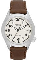 Fossil Stainless Steel and Leather Watch Brown - Lyst