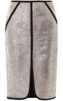 Jonathan Simkhai Metallic Boucle Skirt - Lyst