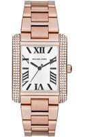 Michael Kors Emery Rose Gold-Tone Stainless Steel Bracelet Watch 40x31mm - Lyst