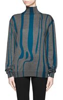 Jil Sander Intarsia Knit Turtleneck Sweater - Lyst