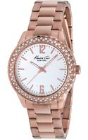 Kenneth Cole New York Womens Rose Gold Ionplated Stainless Steel Bracelet Watch 37mm - Lyst