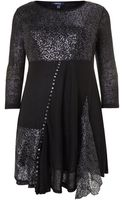 Samya Metallic Web and Sequin Flare Dress - Lyst