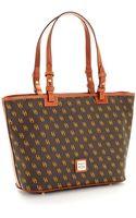 Dooney & Bourke Small Logo Patterned Shopper Tote - Lyst