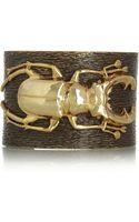 Iam By Ileana Makri Beetle Goldplated Oxidized Brass Cuff - Lyst
