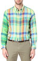 Ralph Lauren Checked Linen Shirt - Lyst