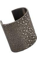 Givenchy Palladium Shagreen Textured Cuff - Lyst