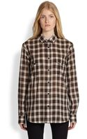 Saint Laurent Plaid Shirt - Lyst