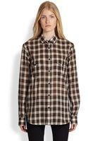 Saint Laurent Plaid Shirt - Lyst