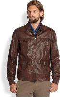 Brunello Cucinelli Sahara Leather Jacket - Lyst