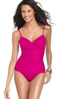 Miraclesuit Tummy Control One-Piece Swimsuit   - Lyst