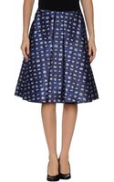 Rochas Knee Length Skirt - Lyst