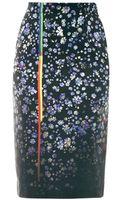 Preen By Thorton Bregazzi Joslyn Forgetmenot Print Pencil Skirt - Lyst