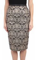 Les Copains Brocade Pencil Skirt - Lyst