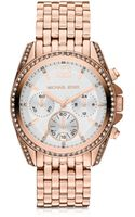 Michael Kors Pressley Rose Goldtone Stainless Steel Bracelet Womens Chronograph - Lyst