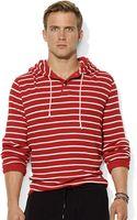 Polo Ralph Lauren Striped Waffleknit Cotton Hoodie - Lyst