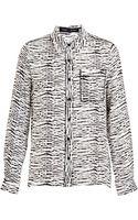 Proenza Schouler Zebra Effect Silk Shirt - Lyst