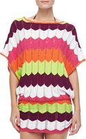 Trina Turk Printed Crochet Coverup Tunic - Lyst