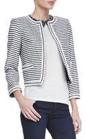 Alice + Olivia Kidman Cropped Horizontal Striped Jacket Alice Olivia - Lyst