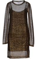 American Retro Short Dress - Lyst