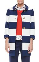 Kate Spade Franny 34sleeve Striped Coat - Lyst