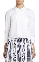 Maiyet Cropped Button Down Shirt - Lyst