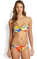 Ralph Lauren Blue Label Twist Bandeau Bikini Top - Lyst