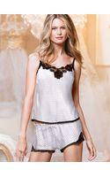 Victoria's Secret Satin Cami and Short Set Lingerie - Lyst