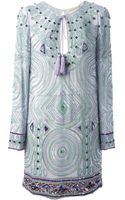 Emilio Pucci Bead Embellished Tunic Dress - Lyst