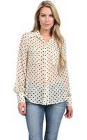 Fifteen-twenty Polka Dot Pocket Shirt - Lyst