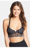 Free People Flocked Bow Lace Bralette - Lyst