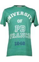 Pierre Balmain Short Sleeve Tshirt - Lyst