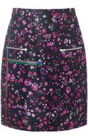 Preen By Thorton Bregazzi Black Floral Halen Skirt - Lyst