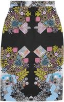 Preen By Thorton Bregazzi Sahara Printed Cotton Blend Skirt - Lyst