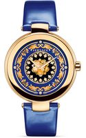 Versace Mystique Foulard Round Rose Gold Pvd Watch 38mm - Lyst