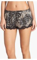 In Bloom By Jonquil Satin Print Shorts - Lyst