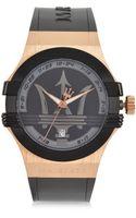 Maserati Potenza 3h Black Dial Black Strap Unisex Watch - Lyst
