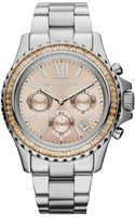 Michael Kors Midsize Silver Color Stainless Steel Everest Chronograph Glitz Watch - Lyst
