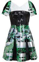 Peter Pilotto Cassandra Silk Jacquard Dress - Lyst