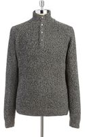 Calvin Klein Jeans Marled Snap Sweater - Lyst