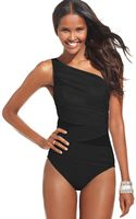 Miraclesuit Jena One Shoulder Asymmetrical One Piece - Lyst