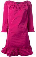 Nina Ricci Pleated Neckline Shift Dress - Lyst