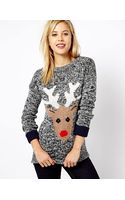 Asos A Wear Reindeer Sweater - Lyst