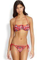 Cecilia Prado Patterned Bandeau Bikini Top - Lyst
